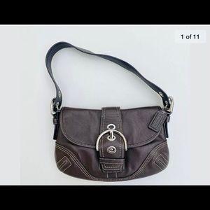 Coach leather bag.